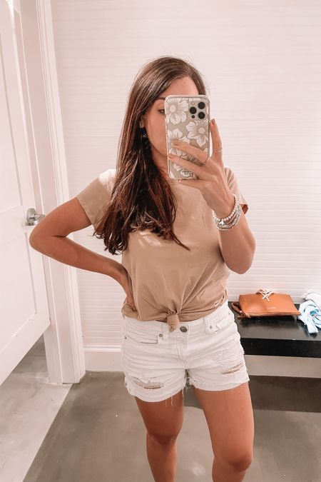 Comfy tees 20% off with code LTKAF2021 love the neutral colors especially paired with white shorts for summer! http://liketk.it/3hkOX #liketkit @liketoknow.it #LTKDay #LTKsalealert #LTKunder50