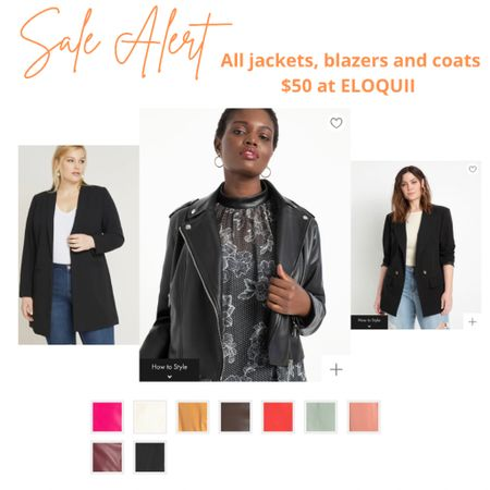 All jackets, blazers and coats $50 at Eloquii🧡 Sale ends at midnight!!   #LTKcurves #LTKSeasonal #LTKHoliday