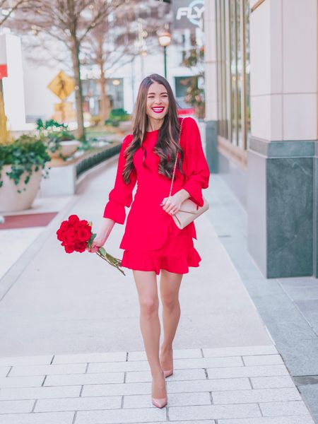 What's your Valentine's color, pretty pink💗, red hot❤️, or sexy black🖤? If you picked ANY of those colors, then you'll love this dress! It comes in 7 colors and is under $19! I've got a new post up on the blog (link in bio) featuring all my favorite finds for Valentine's Day ranging from office to casual to cute! You can instantly shop all of my looks by following me on the LIKEtoKNOW.it app or by going to http://liketk.it/2zLl5 @liketoknow.it #liketkit #LTKunder50 #LTKwedding #LTKshoecrush #LTKstyletip