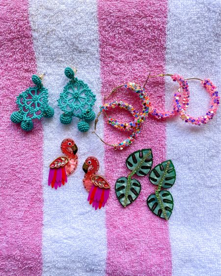 Women's bright and colorful earrings. These are perfect for summer and your next vacation! #LTKunder50 #LTKsalealert #liketkit @liketoknow.it   http://liketk.it/3eQUr #targetstyle #target #jcrew #nordstrom #earrings #accessories    Follow me on the LIKEtoKNOW.it shopping app to get the product details for this look and others