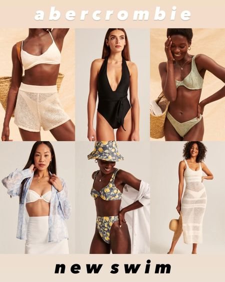 New bikinis, one piece swimsuits, and coverups from Abercrombie! These are so cute and perfect for any summer occasion or vacation. Part of the LTK day sale starting tomorrow.   #LTKtravel #LTKDay #LTKswim
