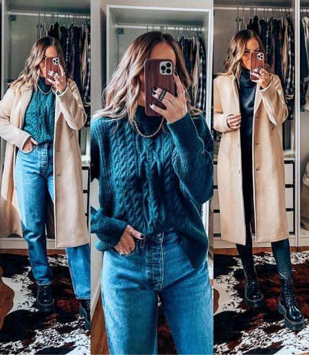 Casual Travel  Travel outfits on sale from Abercrombie!!! Wearing S in tops, 26S in jeans, mp in faux leather leggings, size down .5 in docs   #LTKSeasonal #LTKunder100 #LTKsalealert
