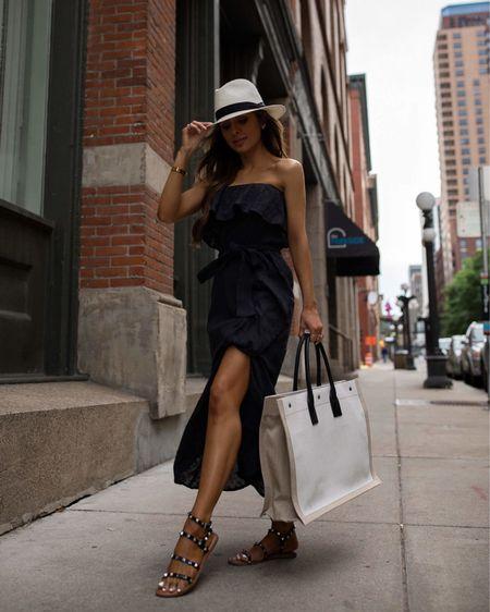 Walmart summer outfit  Sofía Jeans black dress wearing an XXS Walmart studded sandals  #walmartfashion    #LTKunder100 #LTKtravel #LTKunder50