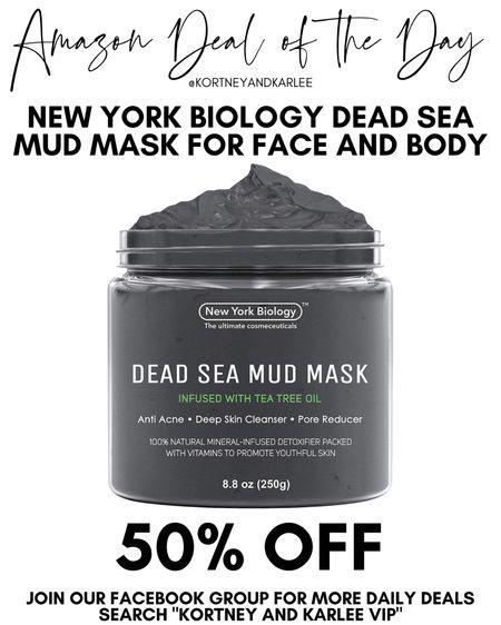 Amazon Deal of the Day!! 50% off this Dead Sea Mud Mask! This has so many great reviews on Amazon!   Amazon daily deal | amazon deal | amazon beauty | amazon finds | amazon favorites | amazon lightening deal | Kortney and Karlee | #kortneyandkarlee @liketoknow.it #liketkit  #LTKunder50 #LTKunder100 #LTKsalealert #LTKstyletip #LTKSeasonal #LTKhome