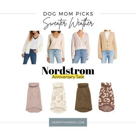 #nsale Nordstrom Anniversary Sale! Dog mom + dog sweater weather finds. Barefoot Dreams pet sweaters   #LTKfamily #LTKsalealert #LTKhome