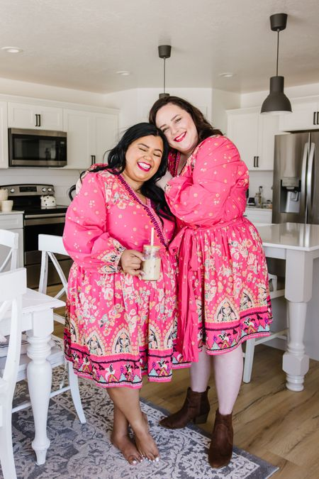 Anthropologie summer dress in a bold color and pop of pink! I LOVE this dress!   #LTKsalealert #LTKSeasonal #LTKcurves