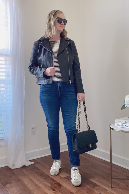 On the Blog ✔️ Full review of the Mango Leather Jacket I added to my closet!   Shop this post on the@shop.ltkapp and follow@classyyettrendyon the app! Everything is also linked here ➡️ https://classyyettrendy.com/instagram-shop/  #capsulewardrobe#smartcasual#whatiamwearing#effortlessstyle#effortlesschic#dailyoutfit#outfitstyle#mystyle#minimaliststyle#elegantstyle#mystylediary#outfitinspirations#dailyfashion#realoutfitgram#wiwtoday#howtostyle#howtowear#parisianstyle#parisiennestyle#parisianchic#simplestyle#simplelook#neutralstyle#neutralaboutit#classicoutfit#classicstyle