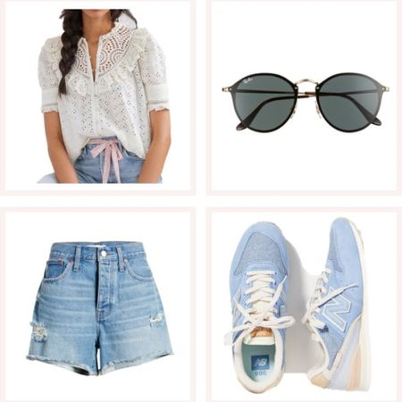 My type of spring and summer outfit! These are my favorite Jean shorts ever but size at least two sizes down (trust me). @liketoknow.it #liketkit #LTKunder50 #LTKunder100 #LTKstyletip http://liketk.it/3edxH