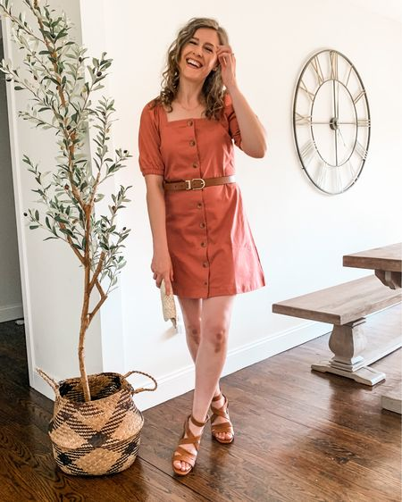 Cutest square neckline dress by Free Assembly at Walmart! #ad Fits tts, wearing small. http://liketk.it/3gZqr #liketkit @liketoknow.it #walmartfashion #freeassembly @walmartfashion