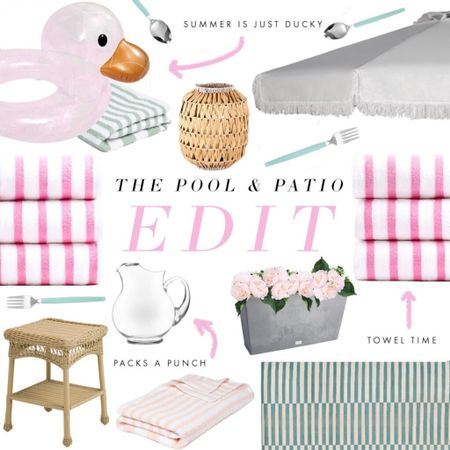 Summer is officially here, and we are refreshing our poolside and patio style with wonderful finds @walmart. Cabana towels, a fringed umbrella, and wicker patio furniture are at the top of our list. Shop the edit in @liketoknow.it and on the blog! #ad #sponsored http://liketk.it/3ihxF #liketkit @liketoknow.it