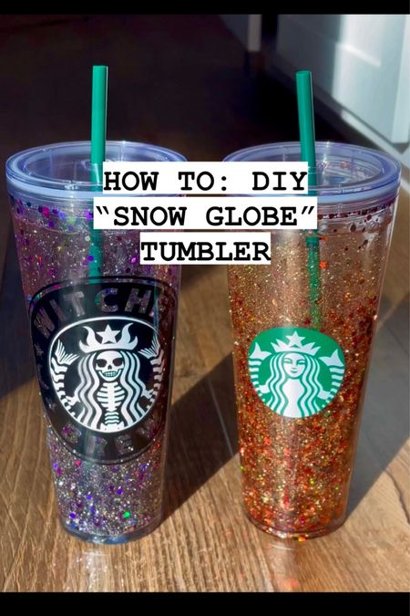 DIY snow globe tumbler!  Easy to customize for you or as a gift for someone else! Love these!!! So fun to make!   #LTKSeasonal #LTKHoliday #LTKGiftGuide