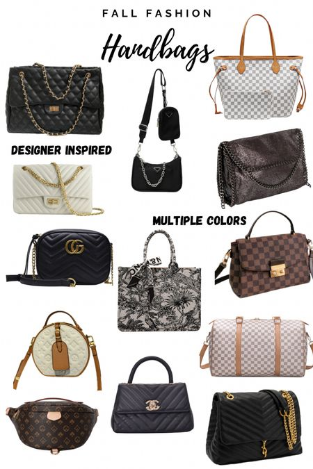 Fall fashion designer inspired handbags, purses, satchels, side body bags and accessories.   #LTKstyletip #LTKunder100 #LTKsalealert