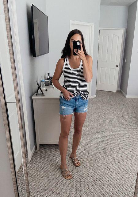 Tank top is a medium!   Walmart fashion, Walmart finds, striped tank top   #LTKSeasonal #LTKstyletip #LTKunder50
