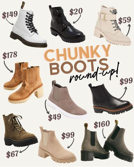 A round-up of my favorite winter chunky boots! Dr Martens // Steve Madden // Combat boots // Booties // Platform boots  #LTKstyletip #LTKsalealert #LTKshoecrush