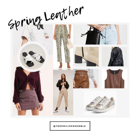 http://liketk.it/2OHD8 #liketkit @liketoknow.it Spring leather is SO in! Shop these looks on my LIKEtoKNOW.it & DM me to learn about my styling services 🖤 . . .  #LTKunder50 #LTKstyletip #LTKsalealert