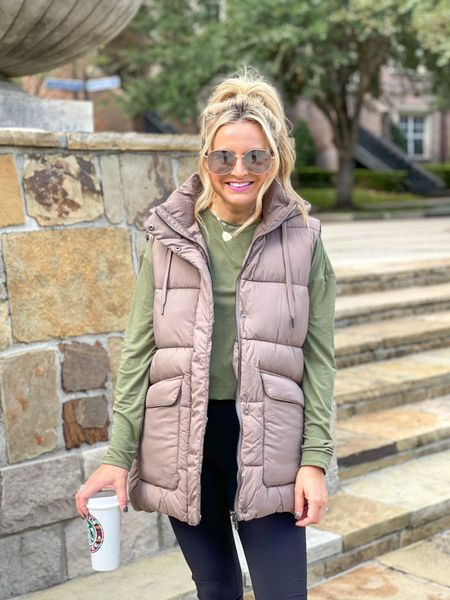 The perfect puffer vest for your fall and winter wardrobe! Fits tts, I'm wearing a xs and it comes in two other colors  #LTKSeasonal #LTKunder100 #LTKstyletip