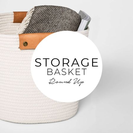 My favorite storage solutions. Decorative baskets not only look great but also provide tons of extra storage!  #LTKhome #LTKunder50