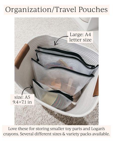 Organization + travel pouches // Amazon finds #LTKhome #LTKunder50 #LTKbeauty #liketkit @liketoknow.it http://liketk.it/3hPyI