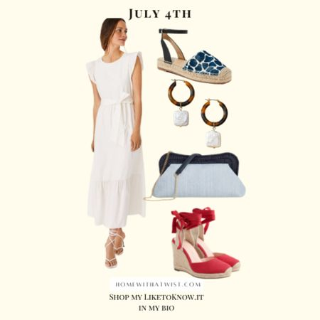Fourth of July outfit inspo! http://liketk.it/3ij4W #liketkit @liketoknow.it #fourthofjuly #LTKfamily #LTKunder100 #LTKshoecrush