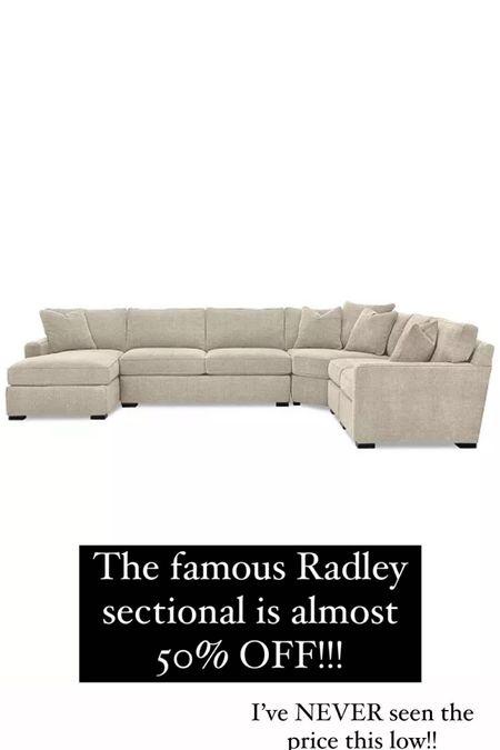 Macy's radley sectional on major sale! http://liketk.it/3iaVt @liketoknow.it #liketkit #LTKsalealert #LTKhome