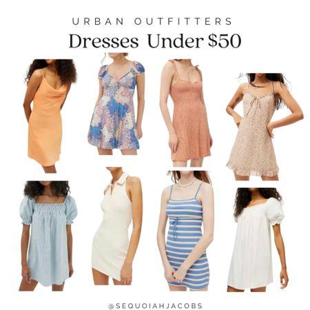 Urban Outfitters dresses under $50 Summer dresses, cami dress, halter dress, floral dress, outfit inspo.   #LTKstyletip #LTKunder50