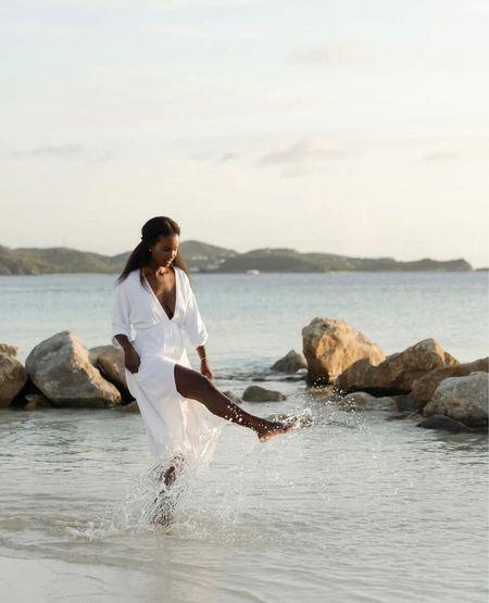 White summer dress Wearing size s    #LTKSeasonal #LTKunder100 #LTKstyletip