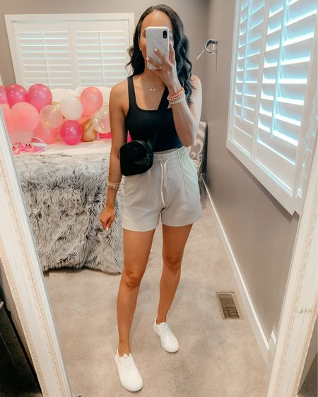 My travel look feat the softest shorts from Lululemon !! High rise, deep pockets and super comfy material. Wearing a size 4 and fit TTS! Screenshot this pic to get shoppable product details with the @liketoknow.it shopping app: http://liketk.it/3jjzi #liketkit #LTKunder100 #LTKfit #LTKtravel