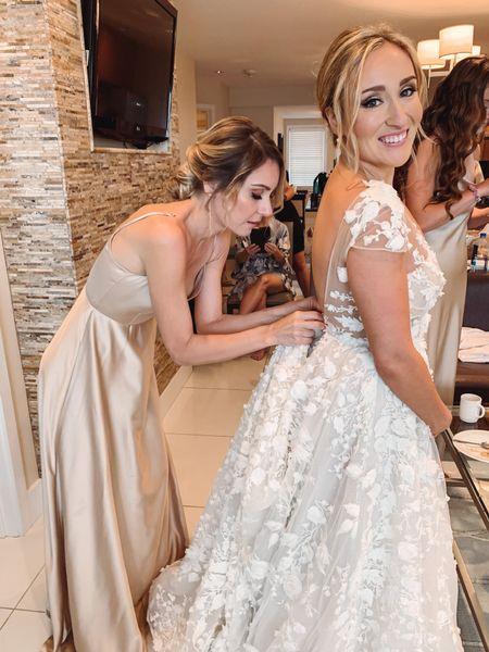 Gold bridesmaid dress by Show Me Your MuMu ✨  #LTKwedding #LTKsalealert #LTKstyletip