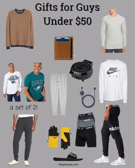 Gifts for guys under $50 these gift ideas are perfect for the man on your list while sticking to a budget gift guide gifts for him men's gift guide men's gift ideas   #LTKGiftGuide #LTKunder50 #LTKmens