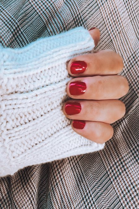 Red nail polish Holiday nails  Fall nail   #LTKHoliday #LTKbeauty