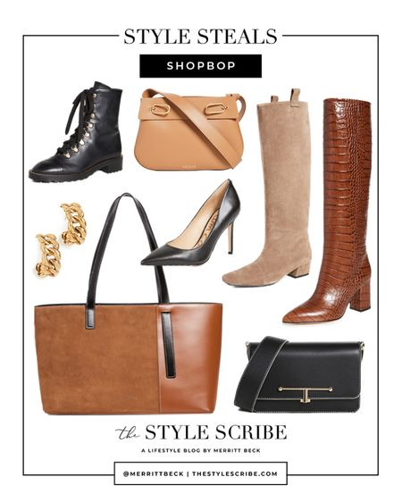 Don't miss these shoes, bags, + earrings from the Shopbop sale! Take up to 25% off on select styles with code STYLE at checkout.   #tssedited #thestylescribe #sale #shopbop #shopbopsale #boots #tote #handbags   #LTKitbag #LTKshoecrush #LTKsalealert