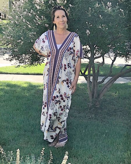 My new favorite dress!    It comes in several colors/patterns and is under $25!!  So cool and comfy for the hot summer months.       #summerdress #dress #kaftan #kaftandress  http://liketk.it/3iAla #LTKstyletip #LTKunder50 #liketkit @liketoknow.it    You can instantly shop all of my looks by following me on the LIKEtoKNOW.it shopping app