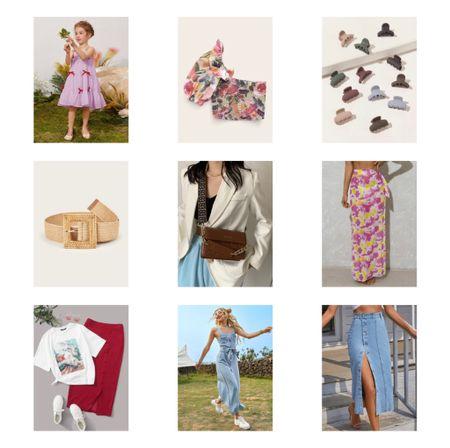 Shein finds CEO's body bag Crop top  Straw belt Denim skirt  #LTKunder50 #LTKSeasonal #LTKkids