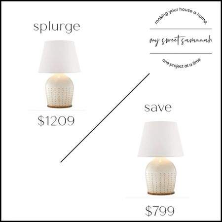 The exact same lamp at 2 different price points! This is the Ralph Lauren lamp studio mcgee has in their entry of their home.   #LTKsalealert #LTKstyletip #LTKhome
