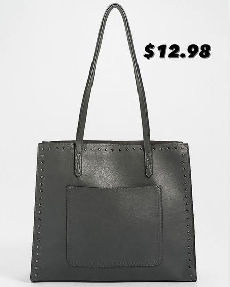 Tote bag gray / studded / Maurices sale / purse http://liketk.it/3k0CD #liketkit @liketoknow.it #LTKsalealert #LTKunder50 #LTKitbag