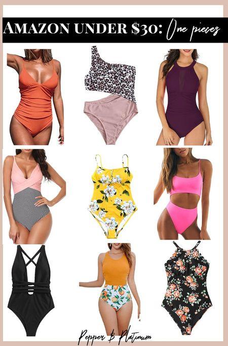 Amazon one piece suits under $30  #LTKswim #LTKunder50 #LTKtravel