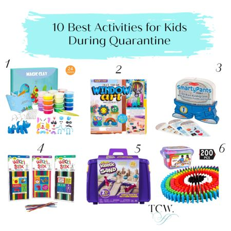 Are you wondering how to keep your kids busy, keep your sanity AND work from home now that school is out or during quarantine? Look no further! I'm linking to 10 gender-neutral crafts & activities (you can find 10 more for girls on my blog: LInk in BIO). They're 6-yr-old approved! We bought each of these for Lily in March and she's used each several times. Download the @liketoknow.it shopping app to shop this pic via screenshot. http://liketk.it/2PVof #liketkit #StayHomeWithLTK #LTKkids #quarantineactivities #uniteinmotherhood #homeschooling #kidscrafts #kidsactivities #summeractivities