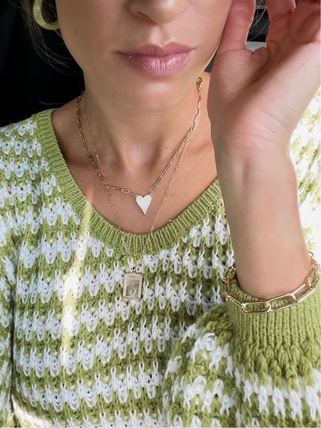 Love this sweater from shein. You can find info and a discount code for the necklaces and bracelet on my IG page  Fall outfit   #LTKunder50 #LTKunder100 #LTKstyletip