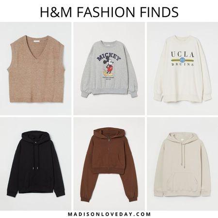 h&m fashion finds, V-neck Sweater Vest, Sweatshirt with Printed Design, mickey mouse, Printed Sweatshirt, UCLA bruins, Hoodies, Hoodie, Short Hooded Sweatshirt Jacket, fall fashion, fall outfits, fashion finds, outfit ideas, cozy outfits   #LTKSeasonal #LTKunder50 #LTKsalealert