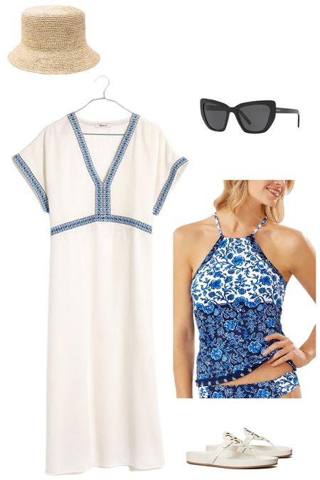 Shopping for spring break? I love the classic lines of this Greek-inspired midi length coverup. I've paired it here with an Aegean blue Tommy Bahama reversible tankini and the new, more athleisure inspired Tory Burch Miller sandal. http://liketk.it/3azPX @liketoknow.it #liketkit #LTKSeasonal #LTKswim #LTKtravel Screenshot or 'like' this pic to shop the product details from the LIKEtoKNOW.it app, available now from the App Store!