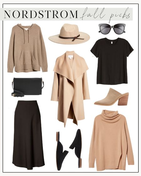 Nordstrom Fall Picks 🍂   I have the wool hat, sunglasses, flat mules, heeled mules, crossbody bag, and tee and love them all!  The rest are great layering pieces for fall. Nordstrom in-house brands have surprised me re quality, cut, and longevity and I highly recommend them!