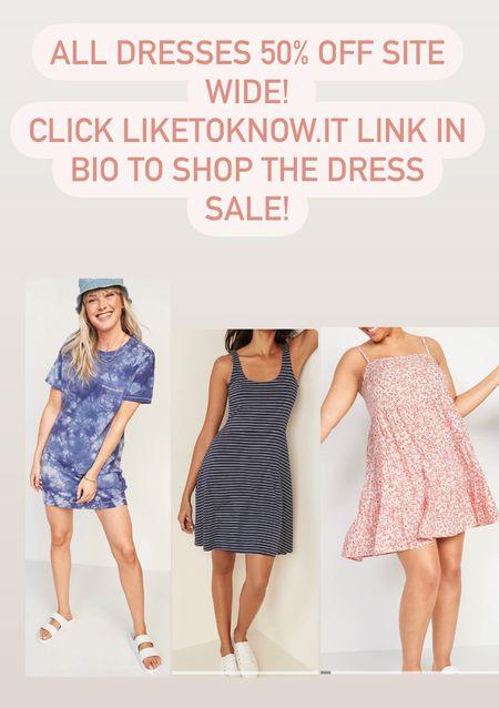 Old Navy 50% off all dresses site wide!  #LTKSpringSale #LTKfamily #LTKsalealert