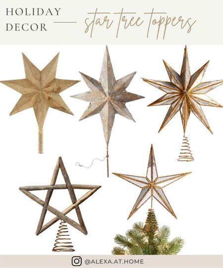 Holiday decor - star tree toppers   Star tree toppers, star Christmas tree toppers , Christmas tree stars, holiday star, star decor , wooden tree toppers , Christmas tree toppers   #LTKhome #LTKHoliday #LTKSeasonal