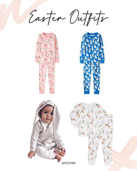 Easter outfits for the kiddos.   Pajamas. Kids pajamas. Kids outfit. Holiday pajamas. http://liketk.it/380l1 #liketkit @liketoknow.it #LTKunder50 #LTKfamily #LTKkids