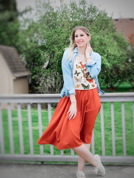 Who else is loving the 90s style graphic tee trend!? This pretty butterfly tee just makes me smile 🦋  It can be styled with a skirt, like I did here, a pair of mom jeans, or some biker shorts to stay with the 90s trend  #LTKstyletip #LTKunder50 #liketkit @liketoknow.it http://liketk.it/3dSWq