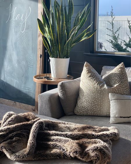 Antelope pillows and faux fur...yes please.  Game room.  Media room.  Home Decor.  Family room.    #liketkit #LTKhome #LTKfamily @liketoknow.it @liketoknow.it.home @liketoknow.it.family http://liketk.it/3cAO3