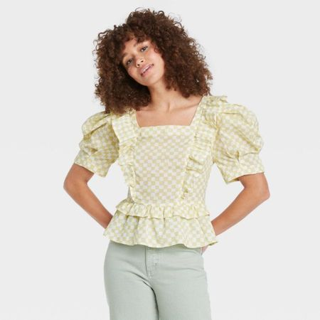 🚨New Arrival: Peplum Blouse - Universal Thread- $24.99🚨 | Green Top | Fall Fashion | Back to School | Business Casual | Workwear | Office Fashion | Fall Top | Target Style | Target Find | Under $50 | Under $100 |   #LTKstyletip #LTKunder50 #LTKworkwear