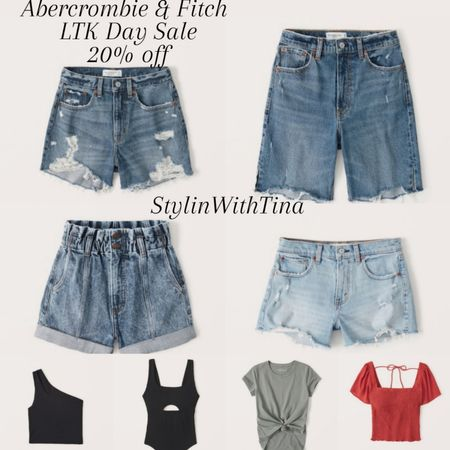 Abercrombie & Fitch 20% off sale.  Code- LTKAF2021 Shorts, tops http://liketk.it/3hjy5