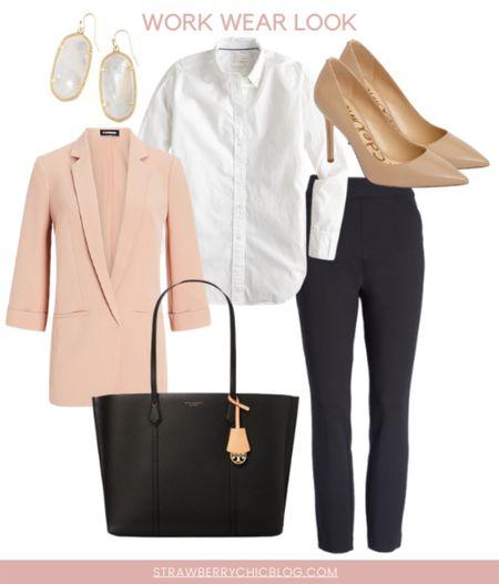 This salmon blazer is a work wardrobe staple. It runs true to size, end looks great with a pencil skirt or black pants!   #LTKunder100 #LTKworkwear #LTKstyletip