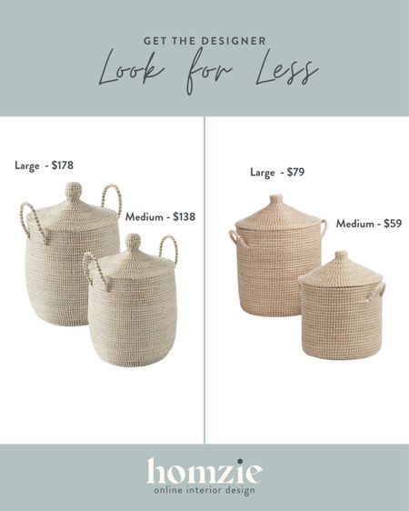 These seagrass woven baskets are a Serena and Lily look alike and we are here for it! Woven storage baskets are perfect home decor for storing kids toys, blankets, or set aside on their own to add texture.   #LTKhome
